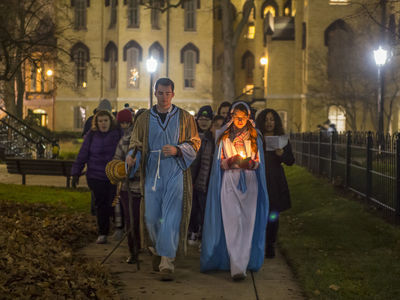 Las Posadas, sponsored by Farley Hall, Fisher Hall and Campus Ministry